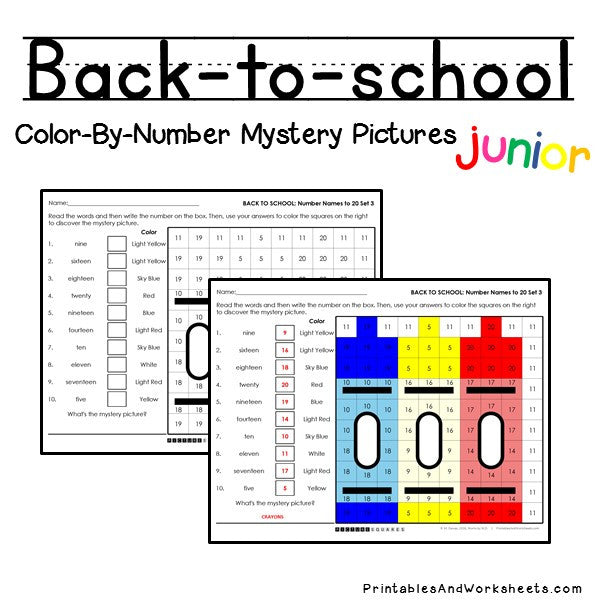 back to school place value color by number printables worksheets. Black Bedroom Furniture Sets. Home Design Ideas