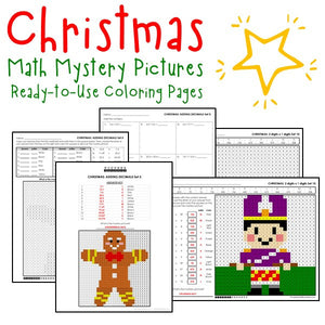 Christmas Coloring Worksheets - Math