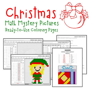 Christmas Coloring Pages - Math