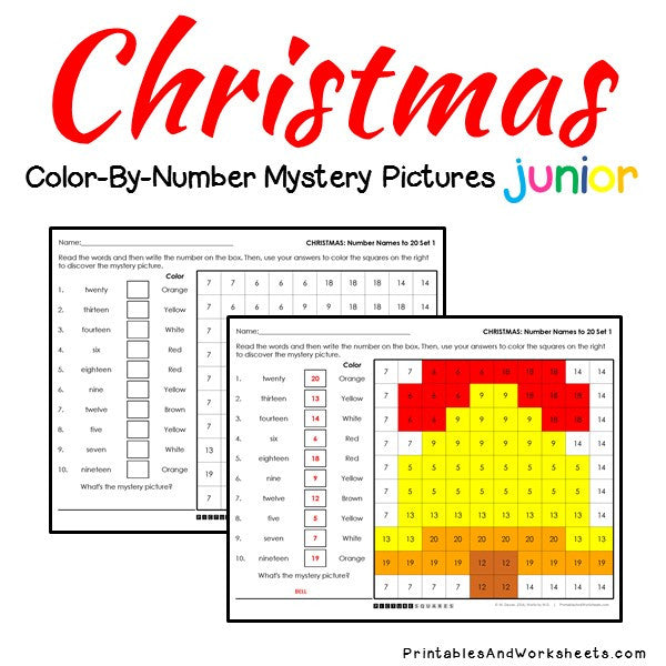 Christmas Place Value Color By Number Printables