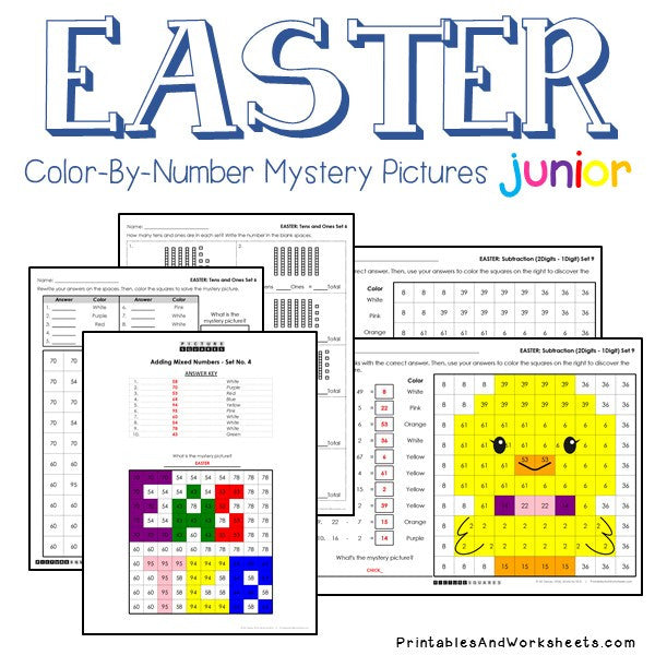Easter Math Color-By-Number
