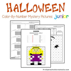 Halloween Place Value Color-By-Number