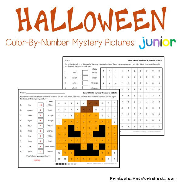 Halloween Color-By-Number: Place Value