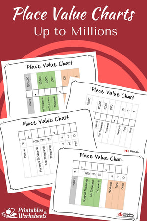 Place Value Charts to Millions
