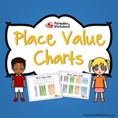 Printable Place Value Charts - Whole Numbers and Decimals