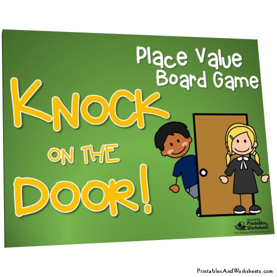 graphic about Printable Place Value Game named Position Cost - Knock upon the Doorway Sport