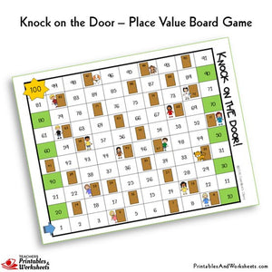 Place Value Knock on the Door Sample Board Game