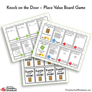 Place Value Board Game Knock on the Door Cards