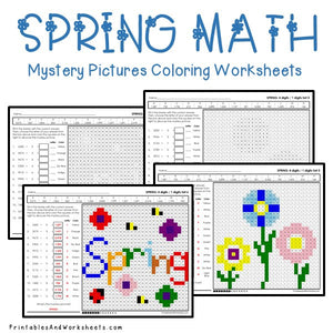 Spring Coloring Worksheets - Division