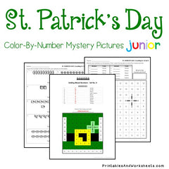St. Patrick's Day Color-By-Number - Counting to 20, Greater Than Less Than