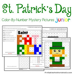 St. Patrick's Day Math Color-By-Number