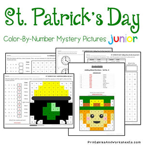 Saint Patrick's Day Color-By-Number: Math