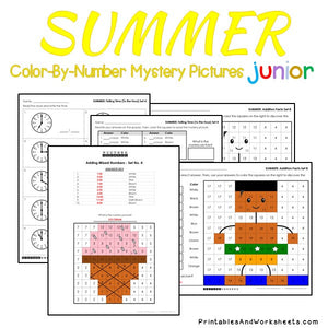 Summer Color-By-Number: Math