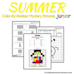 Summer Place Value Color-By-Number