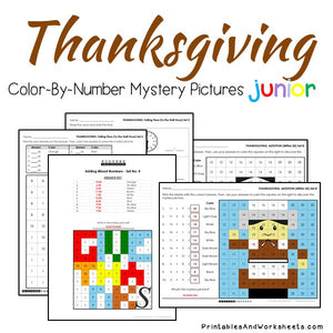 Thanksgiving Color-By-Number: Math