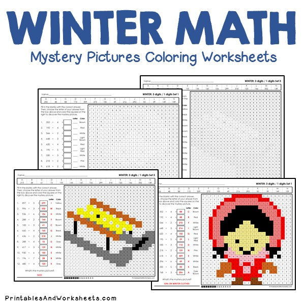 Winter Coloring Worksheets - Division