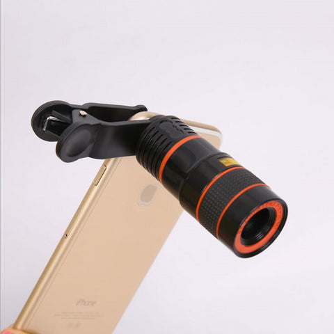 Universal Clip-on Telescope Lens (8x Optical Zoom) for Smart Phones
