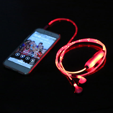 LED Light Up Earphones With Mic