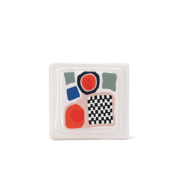 Clac Clac Checker Brooch