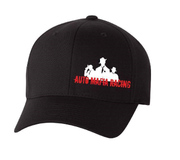 Auto Mafia Racing Black Flex Fit Hat Embroidered Centered & Off Centered Logo