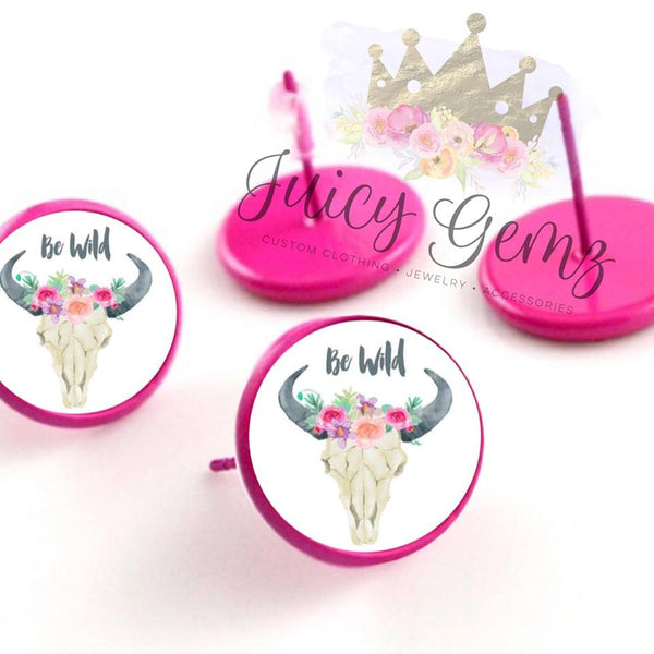 12mm Be wild Cowskulls - Juicy Gemz