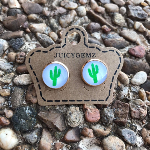 12mm Cactus Custom Gold Setting - Juicy Gemz