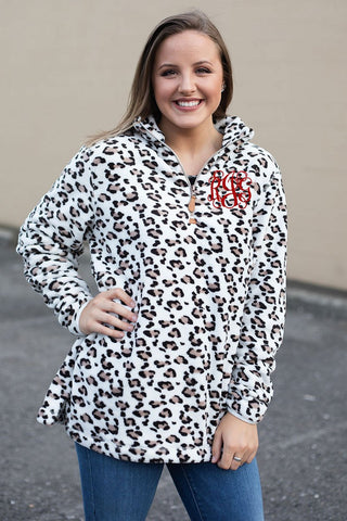 Pre-Order Mama Cheetah Fleece Pull Over - Juicy Gemz