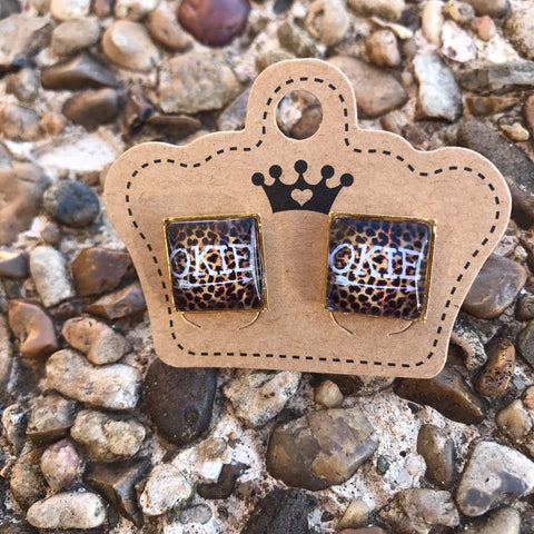 12mm Okie Leopard Earrings - Juicy Gemz