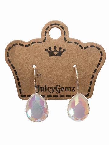 Pearla Iridescent Teardrop Drops - Juicy Gemz