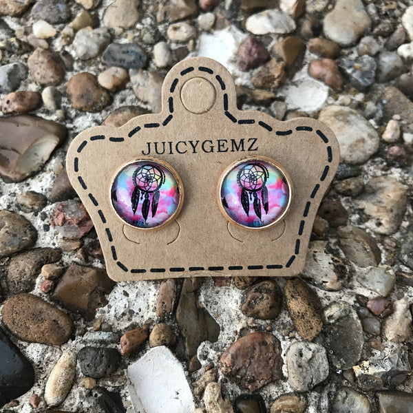 Dream Catcher Studs - Juicy Gemz