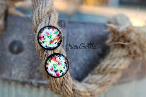 12mm Spring Floral Earrings - Juicy Gemz