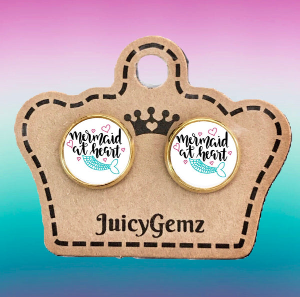 Mermaid At Heart Studs - Juicy Gemz
