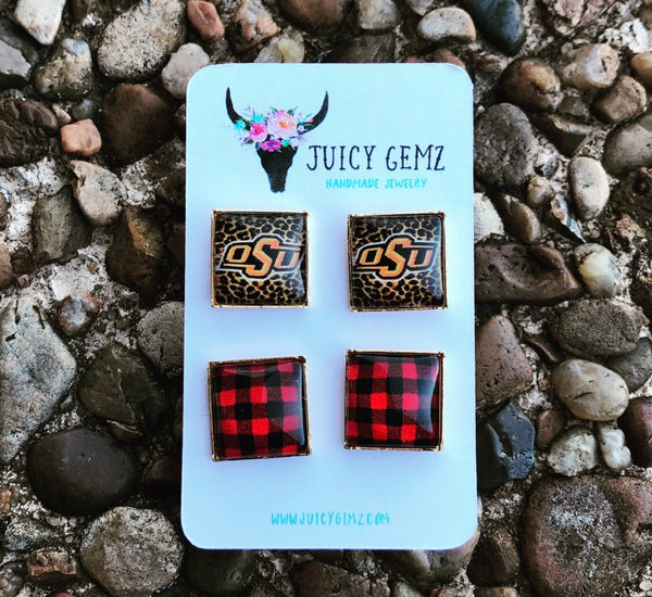 Game Day Standard OSU / Plaid Duo Pack - Juicy Gemz