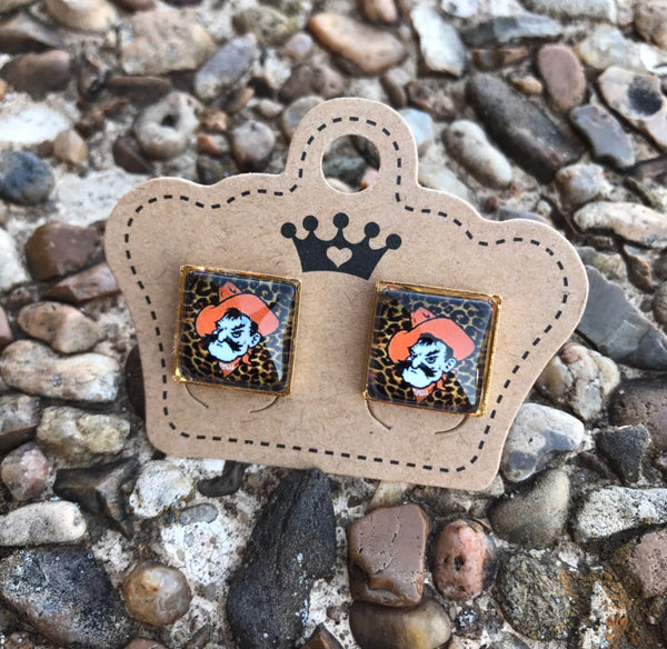 BEST SELLER* Leopard Pistol Pete Studs - Juicy Gemz