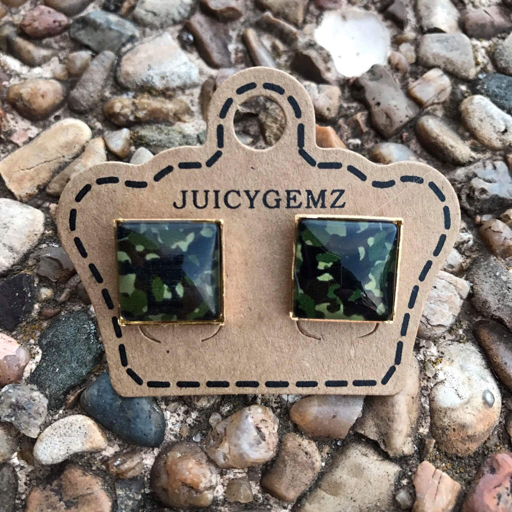 12mm Camo Squares - Juicy Gemz