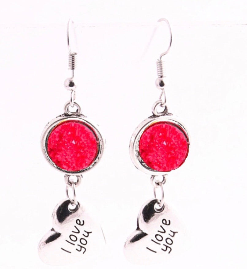 Love Red Drusy Drops - Juicy Gemz