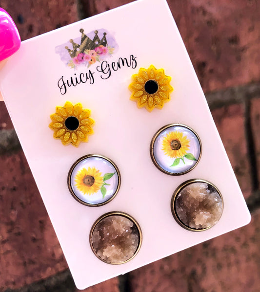 Sunflower Trio Pack - Juicy Gemz