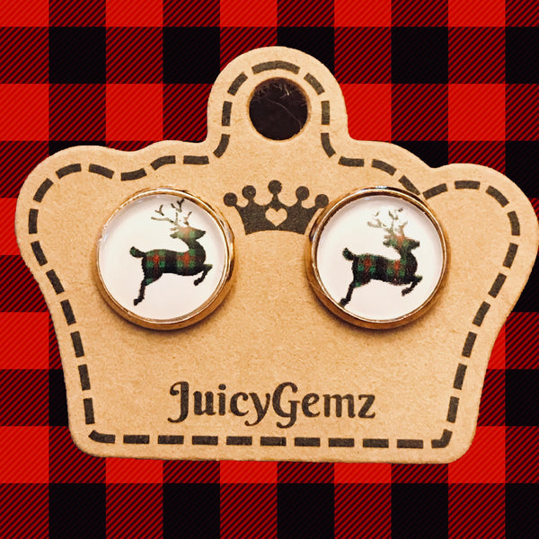 Plaid Reindeer Singles - Juicy Gemz