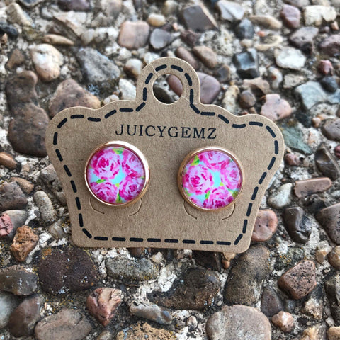 12mm Floral Circles - Juicy Gemz