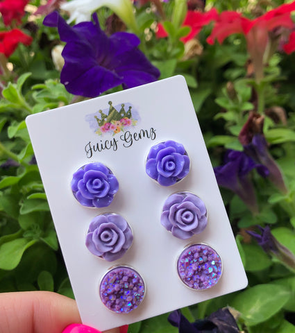 Lavender Rose Trio Pack - Juicy Gemz