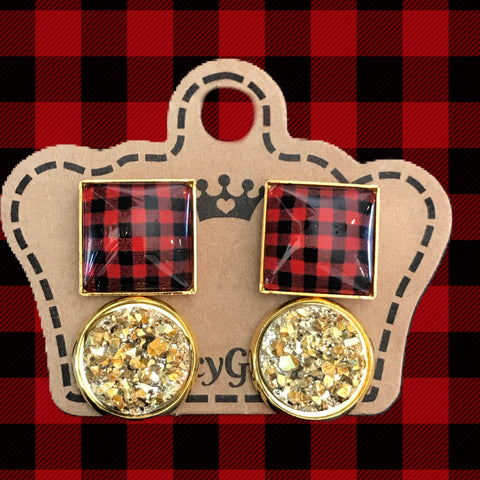 Plaid Duo Drusy Pack - Juicy Gemz