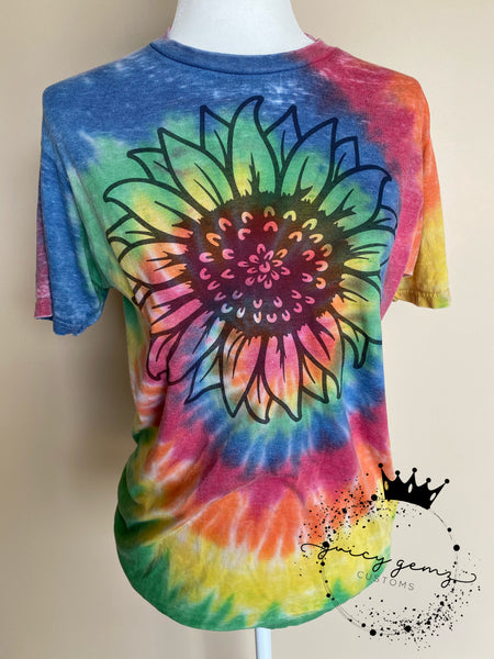 RTS Tie Dye Sunflower Shirt