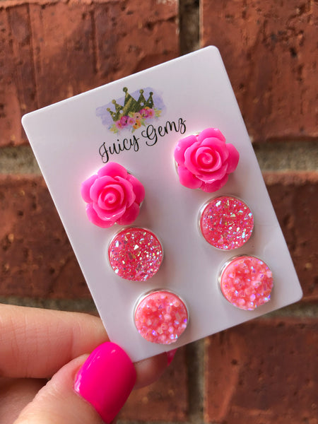Jazzy Pink Katie Rose Trio Pack - Juicy Gemz