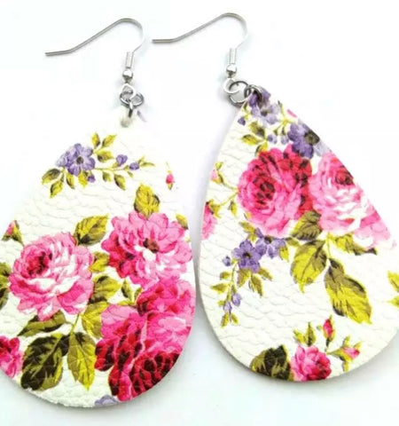 Pink Floral Leathers - Juicy Gemz