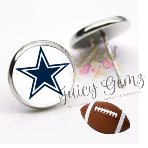 Dallas Cowboy Earrings - Juicy Gemz