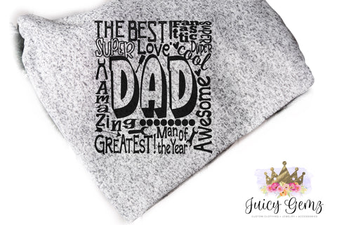 Dad Fleece Throw - Juicy Gemz