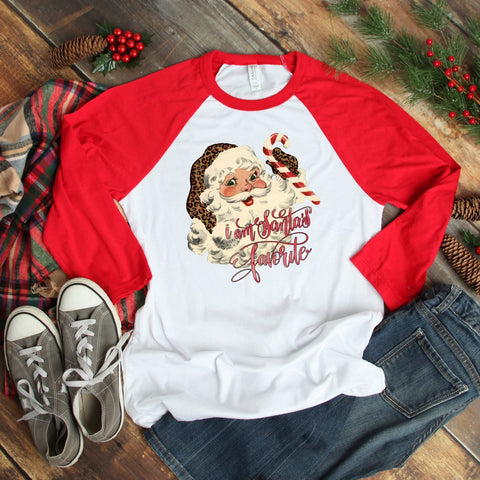 I Am Santa's Favorite Baby/ Toddler Raglan - Juicy Gemz