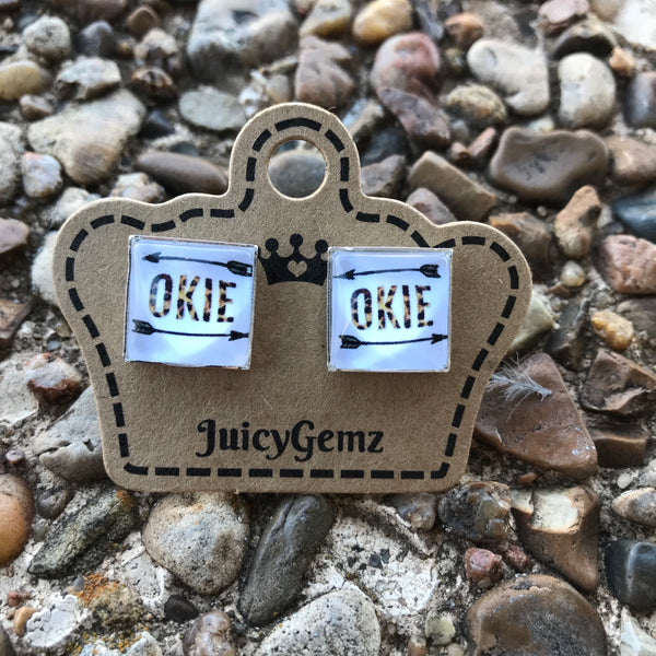 NEW* Okie Square Studs - Juicy Gemz