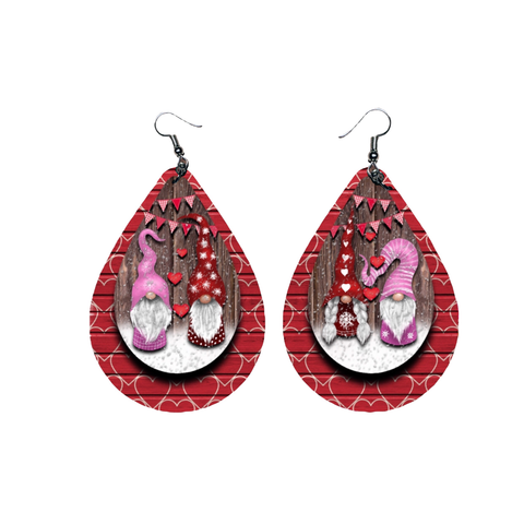 Gnomes Valentine 3D Earrings - Juicy Gemz