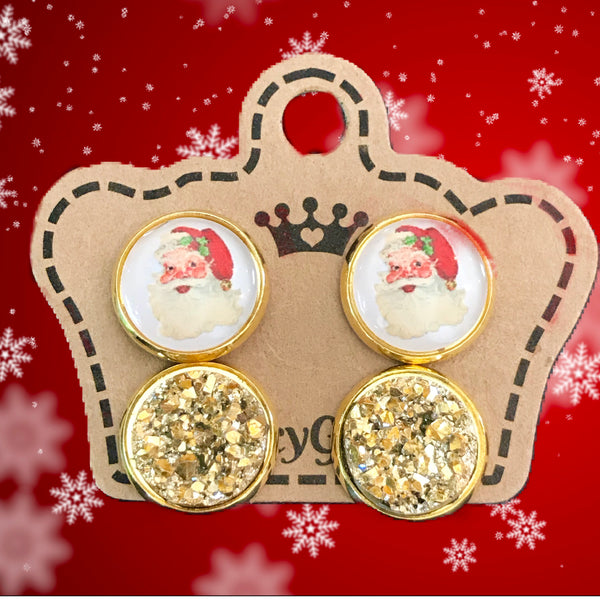 Vintage Santa/ Gold Drusy Duo Pack - Juicy Gemz